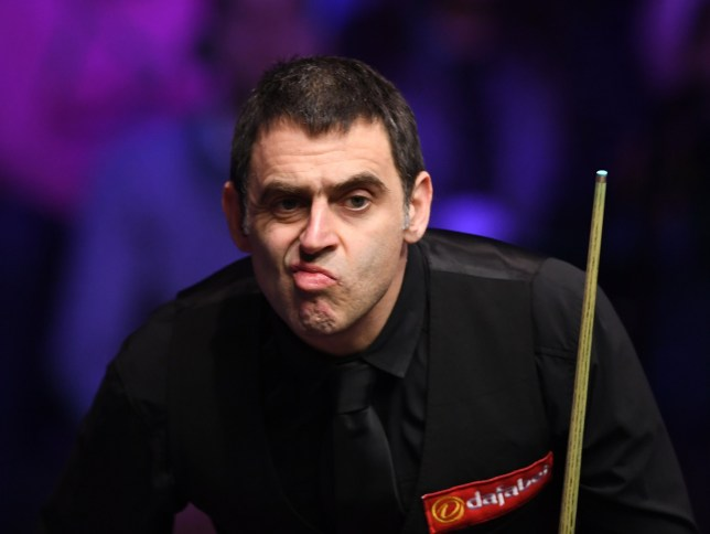 20th January 2019, Alexandra Palace, London, England; Dafabet Masters Snooker final, Ronnie O'Sullivan versus Judd Trump; Ronnie O'Sullivan unhappy with his shot (photo by Simon West/Action Plus via Getty Images)