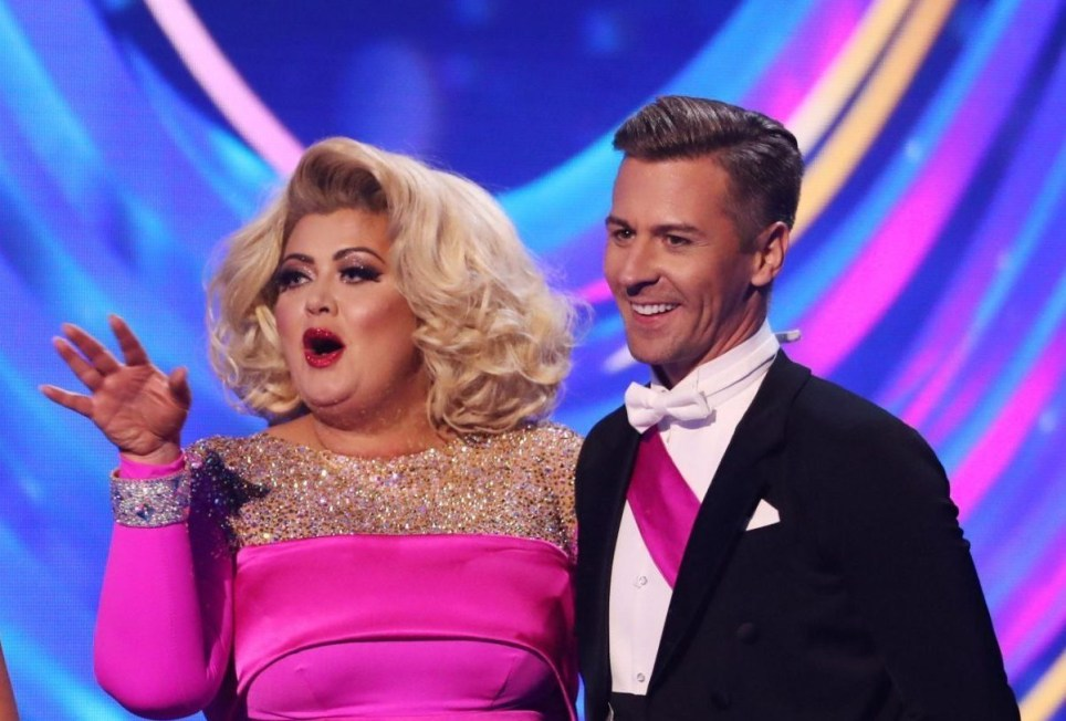 Editorial use only Mandatory Credit: Photo by Matt Frost/ITV/REX (10067937gc) Phillip Schofield and Holly Willoughby, Gemma Collins and Matt Evers 'Dancing on Ice' TV show, Series 11, Episode 3, Hertfordshire, UK - 20 Jan 2019