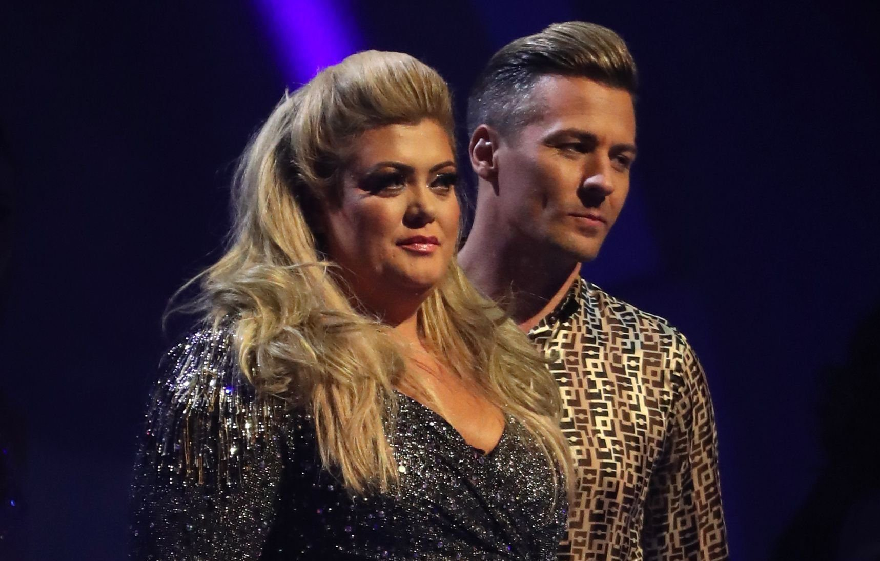 Editorial use only Mandatory Credit: Photo by Matt Frost/ITV/REX (10067937ja) Gemma Collins and Matt Evers 'Dancing on Ice' TV show, Series 11, Episode 3, Hertfordshire, UK - 20 Jan 2019