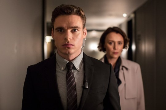 Caption: WARNING: Embargoed for publication until 00:00:01 on 28/08/2018 - Programme Name: Bodyguard - TX: n/a - Episode: n/a (No. Ep 3) - Picture Shows: *STRICTLY NOT FOR PUBLICATION UNTIL 00:01HRS, TUESDAY 28TH AUGUST, 2018* David Budd (RICHARD MADDEN), Julia Montague (KEELEY HAWES) - (C) World Productions - Photographer: Sophie Mutevelian Photographer: Sophie Mutevelian Provider: BBC/World Productions/Sophie Mutevelian Source: Ep 3