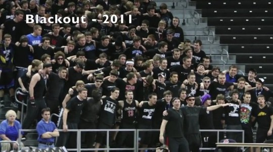 The school hosted 'blackout' events in which at least one student painted their entire upper bodies with black paint.