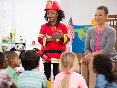 Little girl thinks you have to be a boy to be a firefighter – so female firefighters get in touch