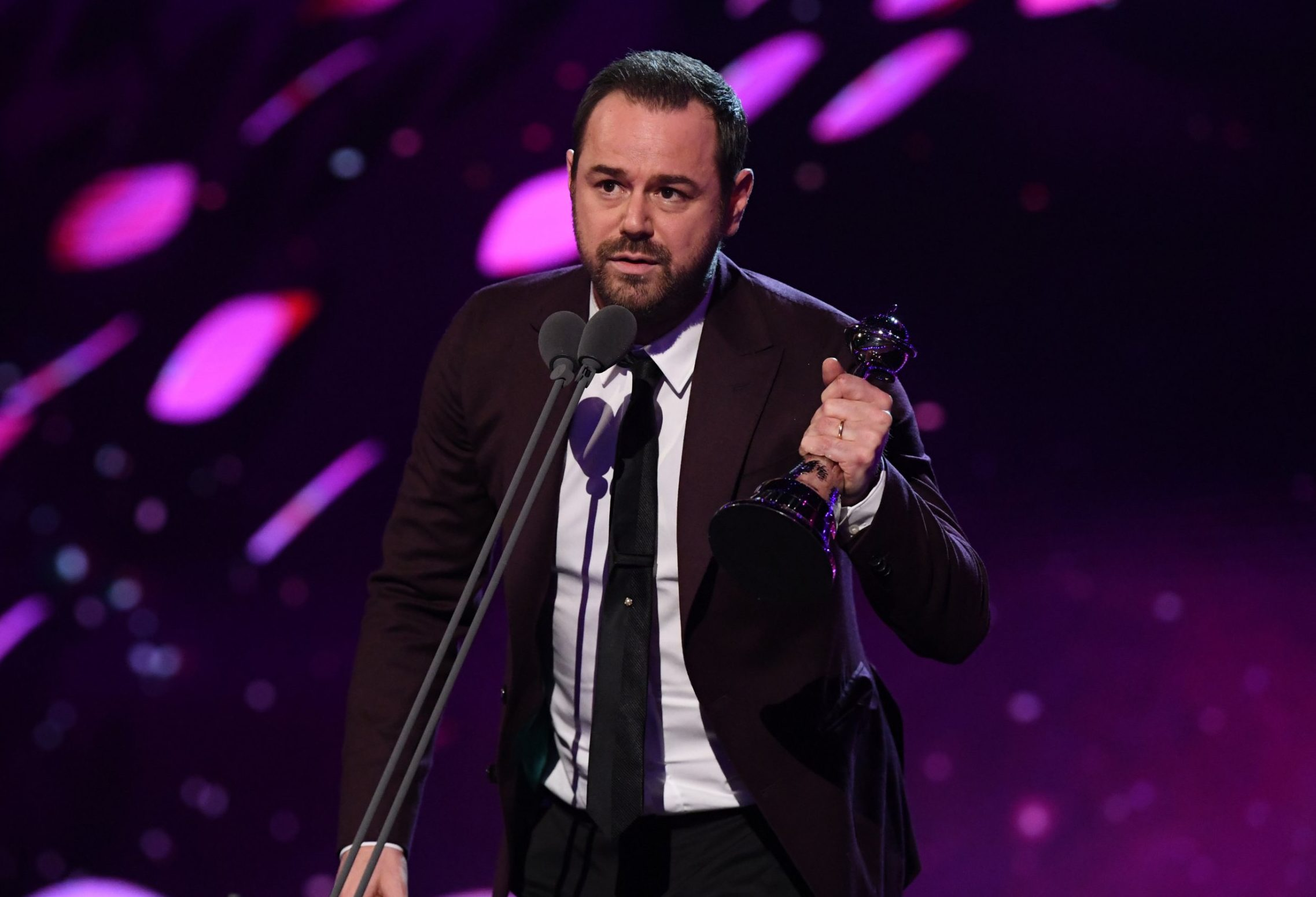 Dermot O'Leary apologises after Danny Dyer drops f-bomb in emotional NTAs speech