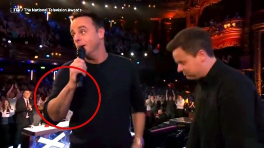 Ant McPartlin fans spot scar on arm as he wins contorversial NTA