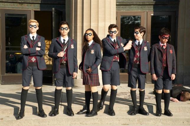The cast of Netflix's The Umbrella Academy