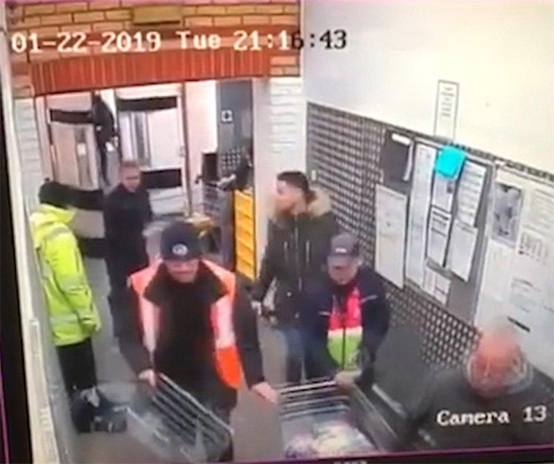 Man chasing Tesco customers with axeCredit: Facebook / Samantha Suki Lowe