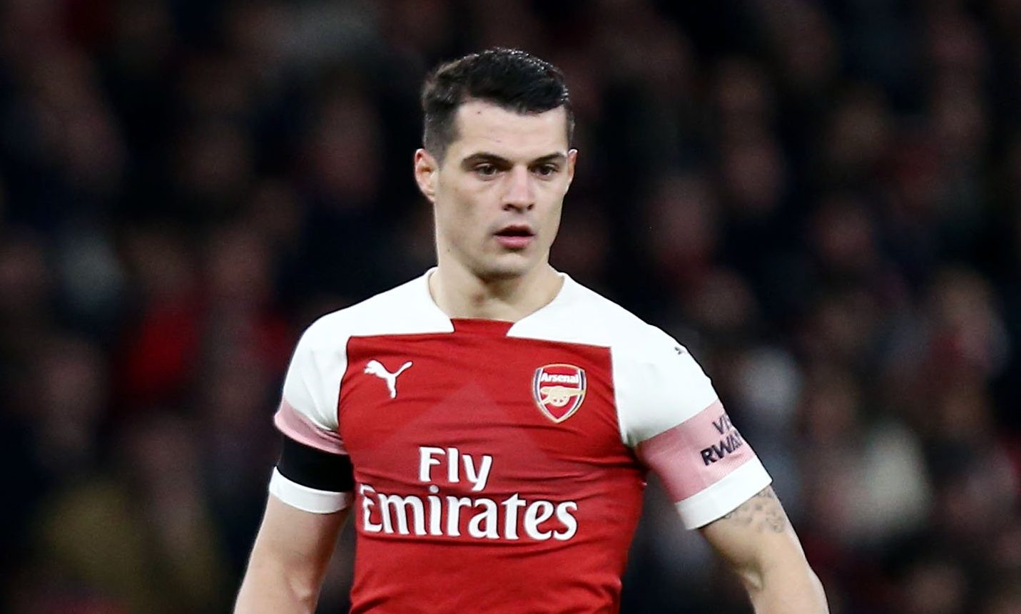 Granit Xhaka clashes with Arsenal fan after Manchester United defeat