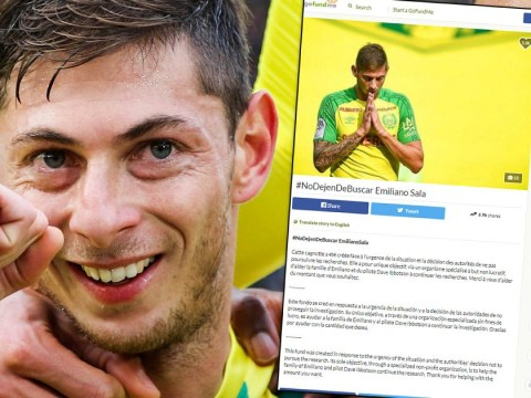 Football fans raise more than £140,000 to help family find missing Emiliano Sala
