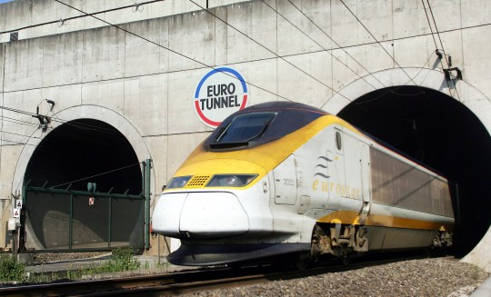 "An Eurostar train emerges from the Eurotunnel, 13 July 2006 in Coquelles, northern France. Eurotunnel was to ""place itself under the protection of the Paris Tribunal of Commerce"" after a failure in negotiations on its debt with its creditors, a Eurotunnel spokesman announced today. AFP PHOTO DENIS CHARLET (Photo credit should read DENIS CHARLET/AFP/Getty Images)"