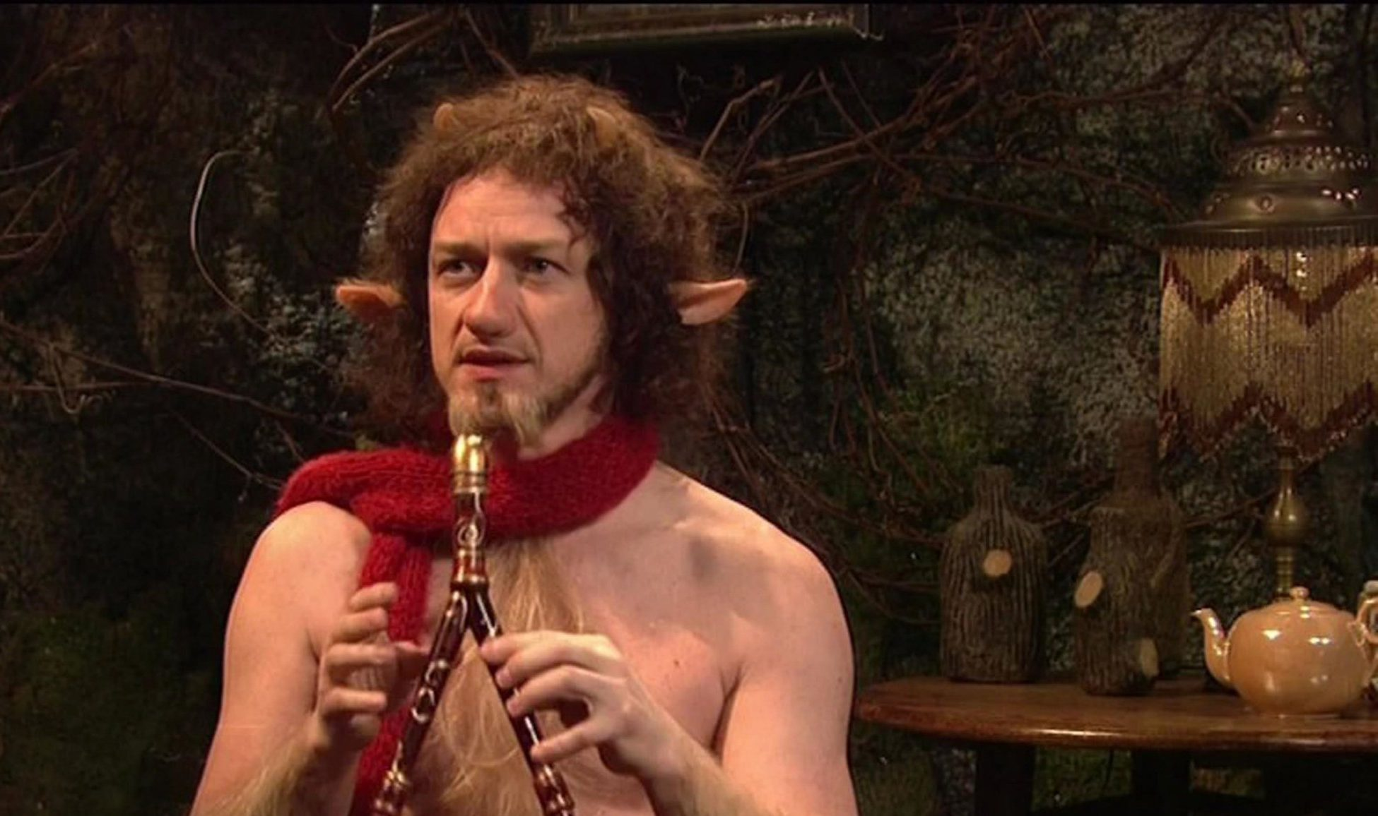 James McAvoy recreates Chronicles Of Narnia's Mr Tumnus and mocks 'lazy Hermiones' in SNL sketch