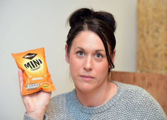 ***Embargoed until 2pm on 27.01.19*** Online usage fee ?75 per picture . Print fee ?150 per picture.*** Mum Katherine Oliver from Southport who was forced to spit out a mouthful of Mini Cheddars after police accused her of smuggling heroin. Photo by Colin Lane