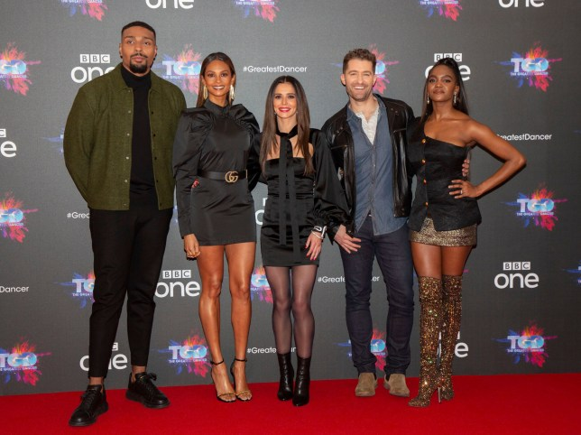 Jordan Banjo, Alesha Dixon, Cheryl, Matthew Morrison and Oti Mabuse from The Greatest Dancer