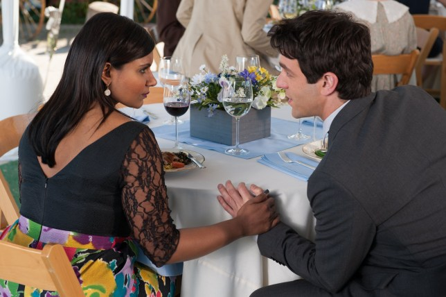 "THE OFFICE -- ""Finale"" Episode 924/925 -- Pictured: (l-r) Mindy Kaling as Kelly Kapoor, BJ Novak as Ryan -- (Photo by: Colleen Hayes/NBC/NBCU Photo Bank via Getty Images)"