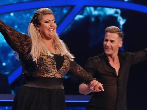 Gemma Collins rehearses on a private rink after 'disrupting' the other Dancing On Ice skaters