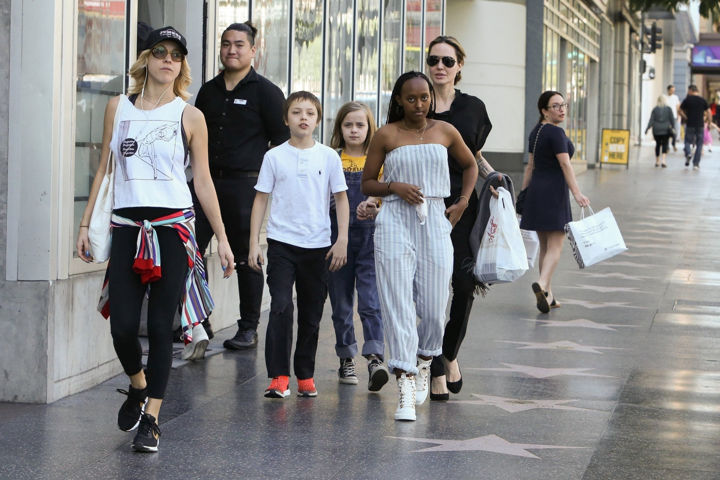 Angelina Jolie balances motherhood in style as she treats kids to sushi lunch date in heels