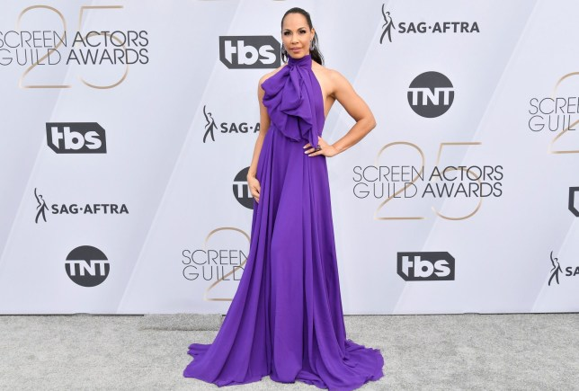 Mandatory Credit: Photo by Rob Latour/REX (10072501cw) Amanda Brugel 25th Annual Screen Actors Guild Awards, Arrivals, Los Angeles, USA - 27 Jan 2019