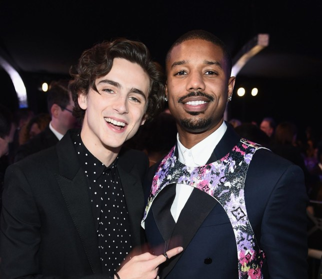 LOS ANGELES, CA - JANUARY 27: (L-R) Timothee Chalamet and Michael B. Jordan attend the 25th Annual Screen Actors??Guild Awards at The Shrine Auditorium on January 27, 2019 in Los Angeles, California. 480595 (Photo by Dimitrios Kambouris/Getty Images for Turner)