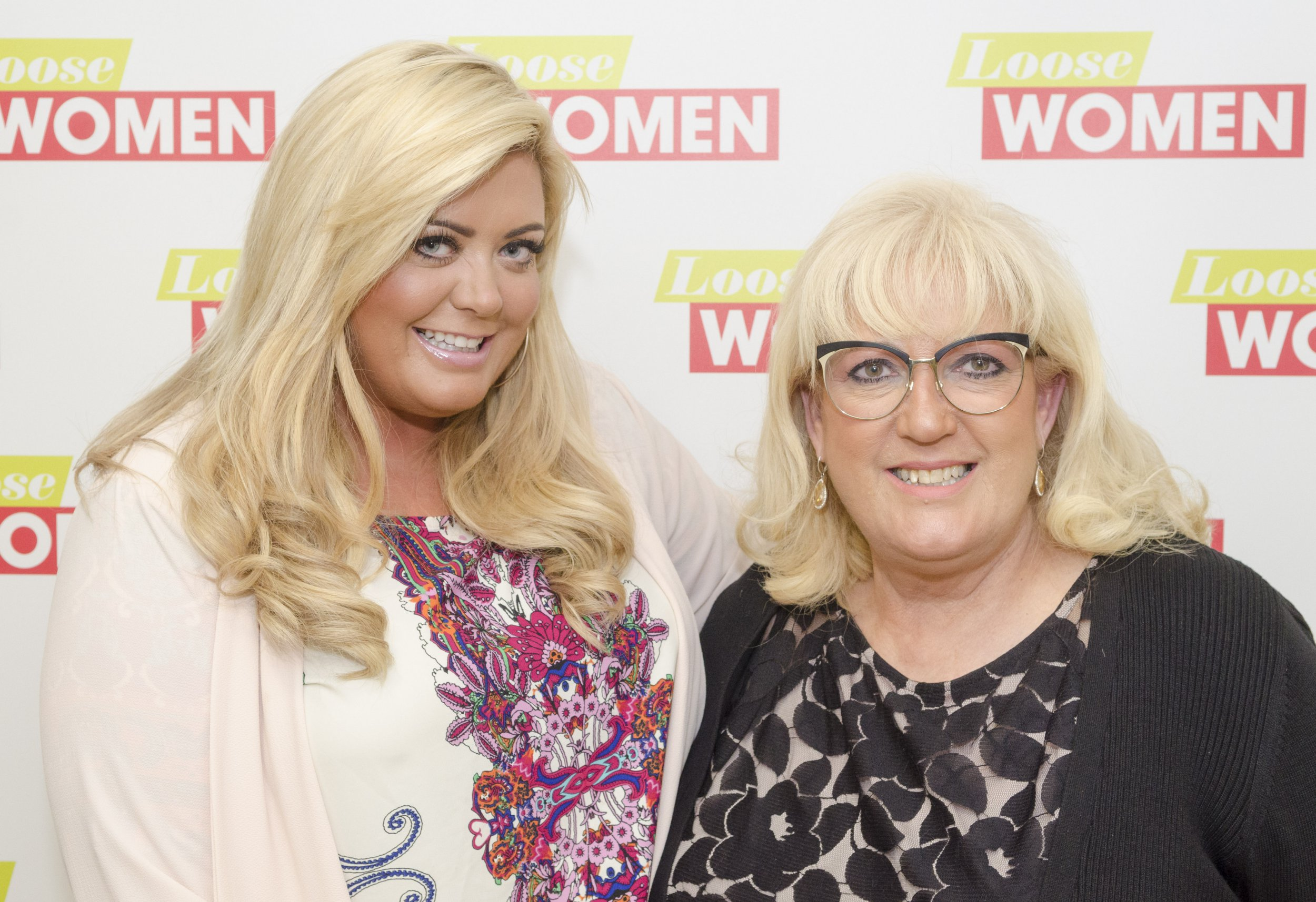 Editorial use only Mandatory Credit: Photo by S Meddle/ITV/REX/Shutterstock (5609595n) Gemma Collins and her mum Joan 'Loose Women' TV show, London, Britain - 04 Mar 2016