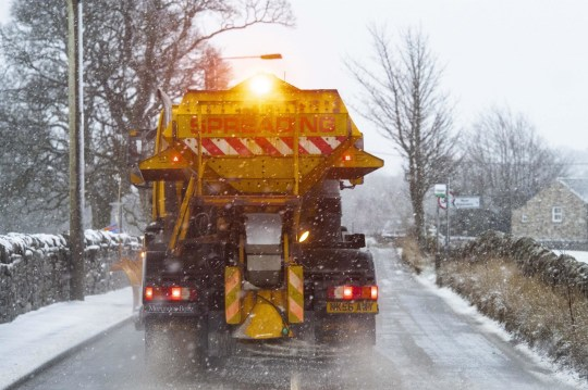 BGUK_1470951 - St John's Chapel, County Durham, UK, UNITED KINGDOM - Heavy snow continues to fall throughout the morning in County Durham as Arctic blast hits the UK. Gritter pictured clearing the roads in St John's Chapel, County Durham this morning. Pictured: UK SNOW, UK Weather, Snow, GV, Weather BACKGRID UK 29 JANUARY 2019 BYLINE MUST READ: Jordan Crosby / BACKGRID UK: +44 208 344 2007 / uksales@backgrid.com USA: +1 310 798 9111 / usasales@backgrid.com *UK Clients - Pictures Containing Children Please Pixelate Face Prior To Publication*