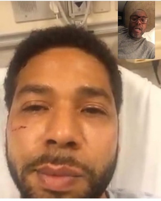 Lee Daniels face-times Jussie Smollett after beating Taken without permission: https://www.instagram.com/p/BtO29PSBAsu/