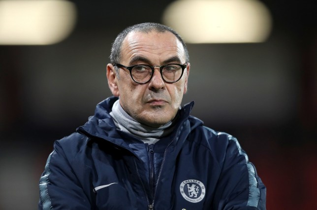 """Chelsea manager Maurizio Sarri before the Premier League match at the Vitality Stadium, Bournemouth. PRESS ASSOCIATION Photo. Picture date: Wednesday January 30, 2019. See PA story SOCCER Bournemouth. Photo credit should read: Andrew Matthews/PA Wire. RESTRICTIONS: EDITORIAL USE ONLY No use with unauthorised audio, video, data, fixture lists, club/league logos or """"live"""" services. Online in-match use limited to 120 images, no video emulation. No use in betting, games or single club/league/player publications."""