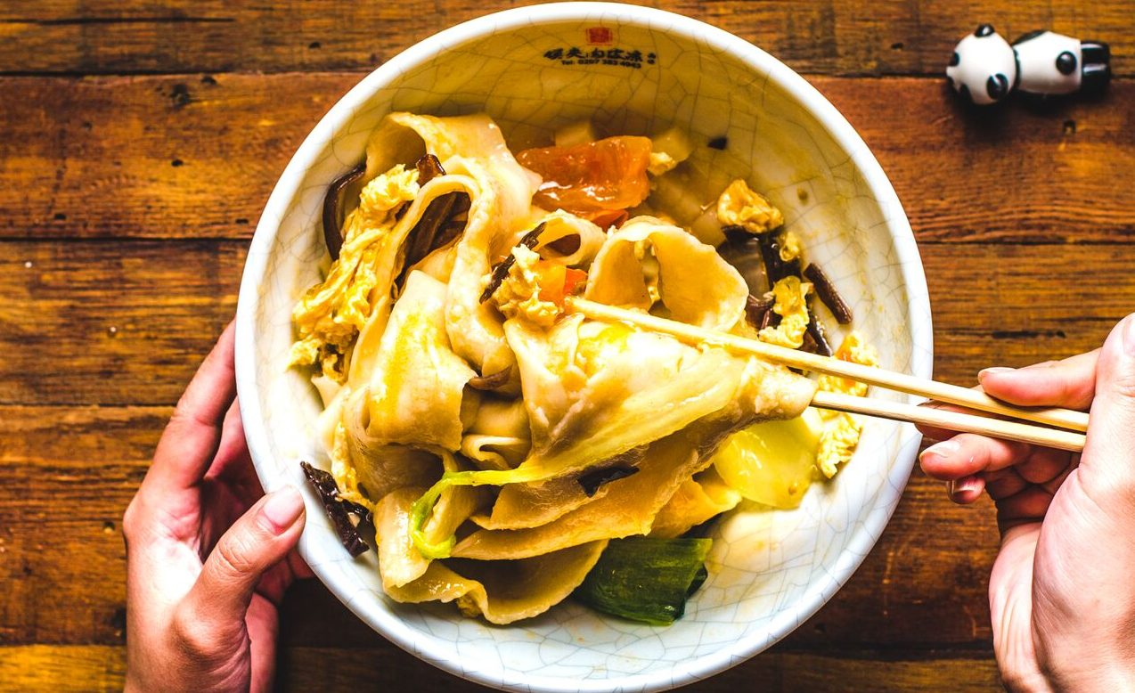The hand-pulled wide noodles at Murger Han
