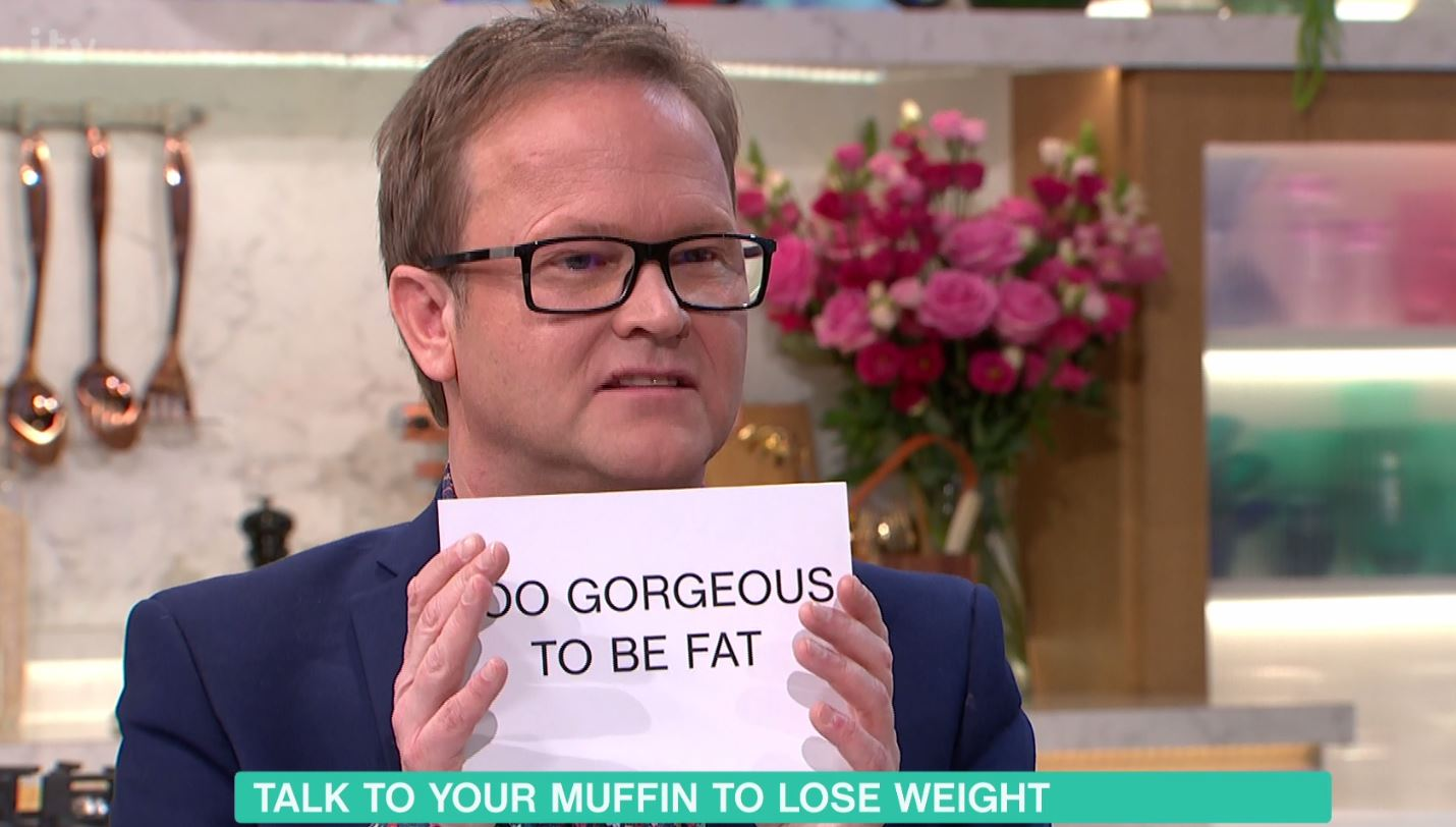 This Morning slammed as 'fat-shaming' diet guru holds up 'too gorgeous to be fat' sign