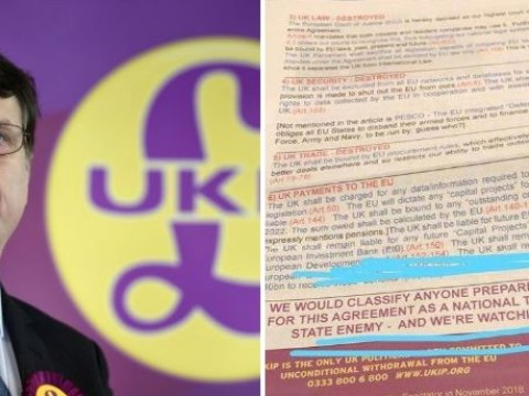 Ukip denies threatening 'traitor' MPs who vote for May's Brexit deal