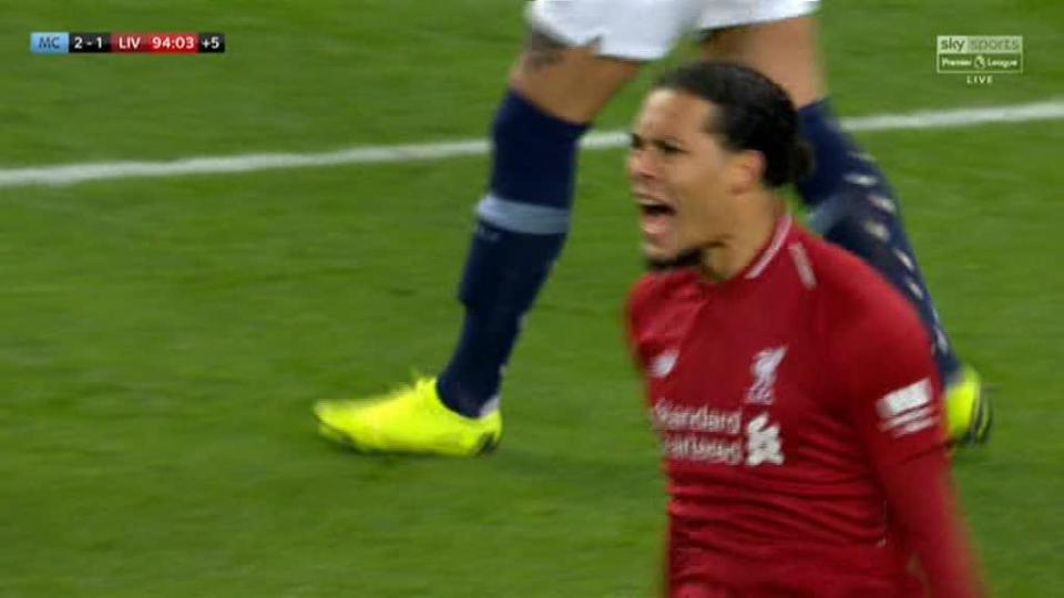 Virgil van Dijk seen tearing into Dejan Lovren as Manchester City get title bid back on track