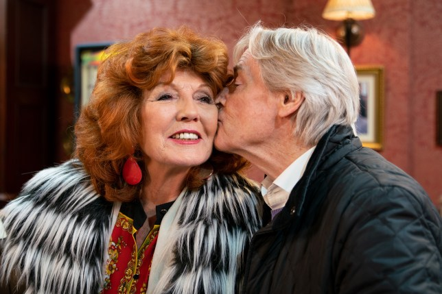 Ken kisses Claudia in Coronation Street