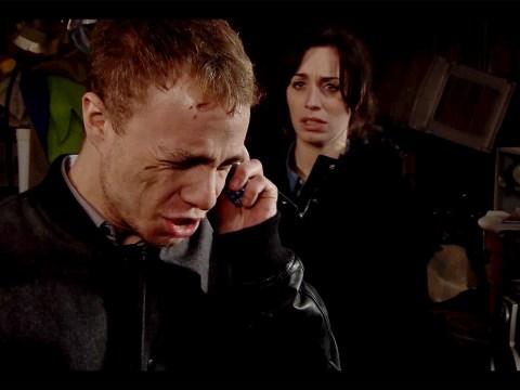 Coronation Street: Clayton Hibbs makes his escape leaving David Platt in fear for their lives