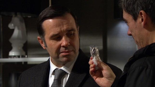 Graham is threatened by an angry Cain in Emmerdale