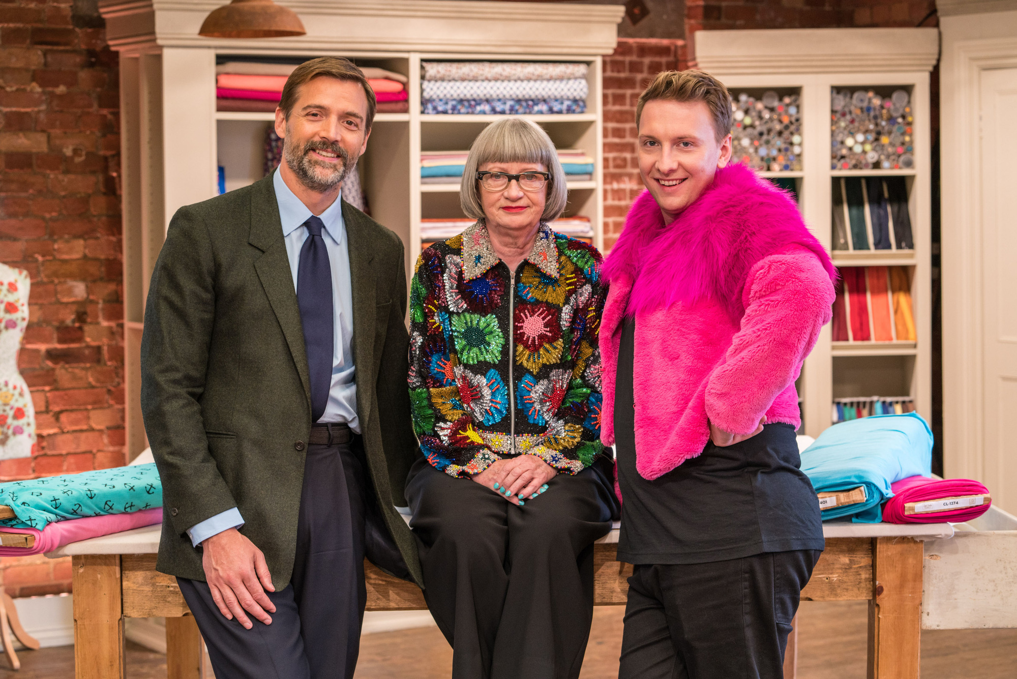 Patrick Grant, Esme Young and Joe Lycett on The great british sewing bee