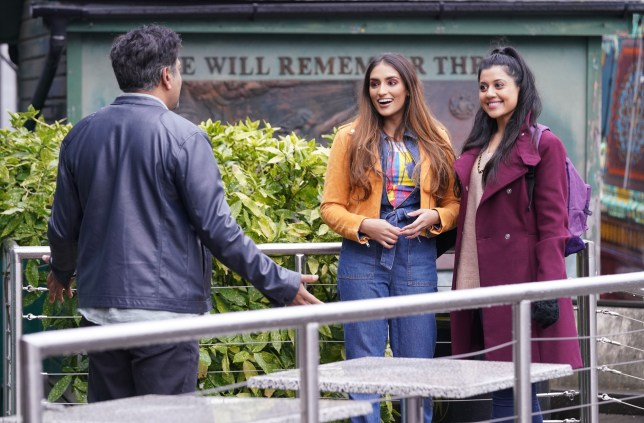 Masood is shocked to see Iqra and Habiba in EastEnders