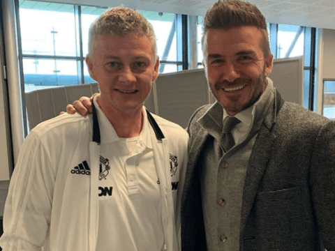 David Beckham sends message to 'the BOSS' Ole Gunnar Solskjaer before Paris Saint-Germain clash