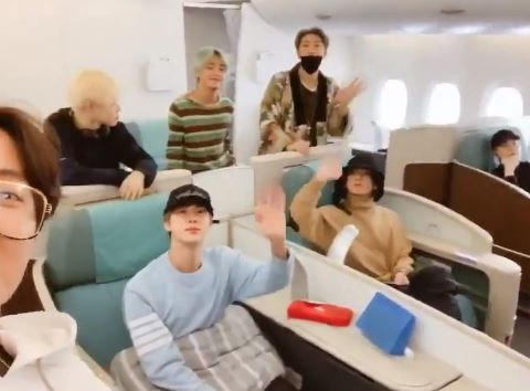 BTS are squad goals as they jet off to LA for the Grammys