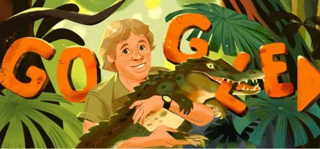 The Google Doodle honoring Steve Irwin