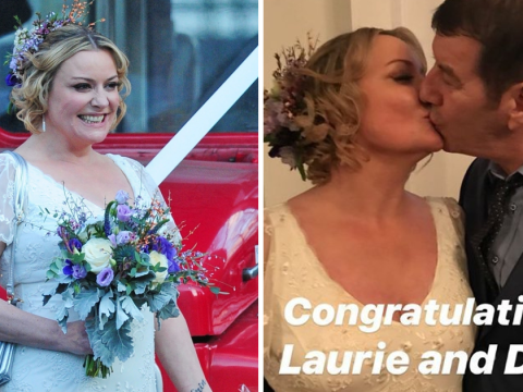 Eastenders' Laurie Brett reveals she saved her new husband's life days before their wedding