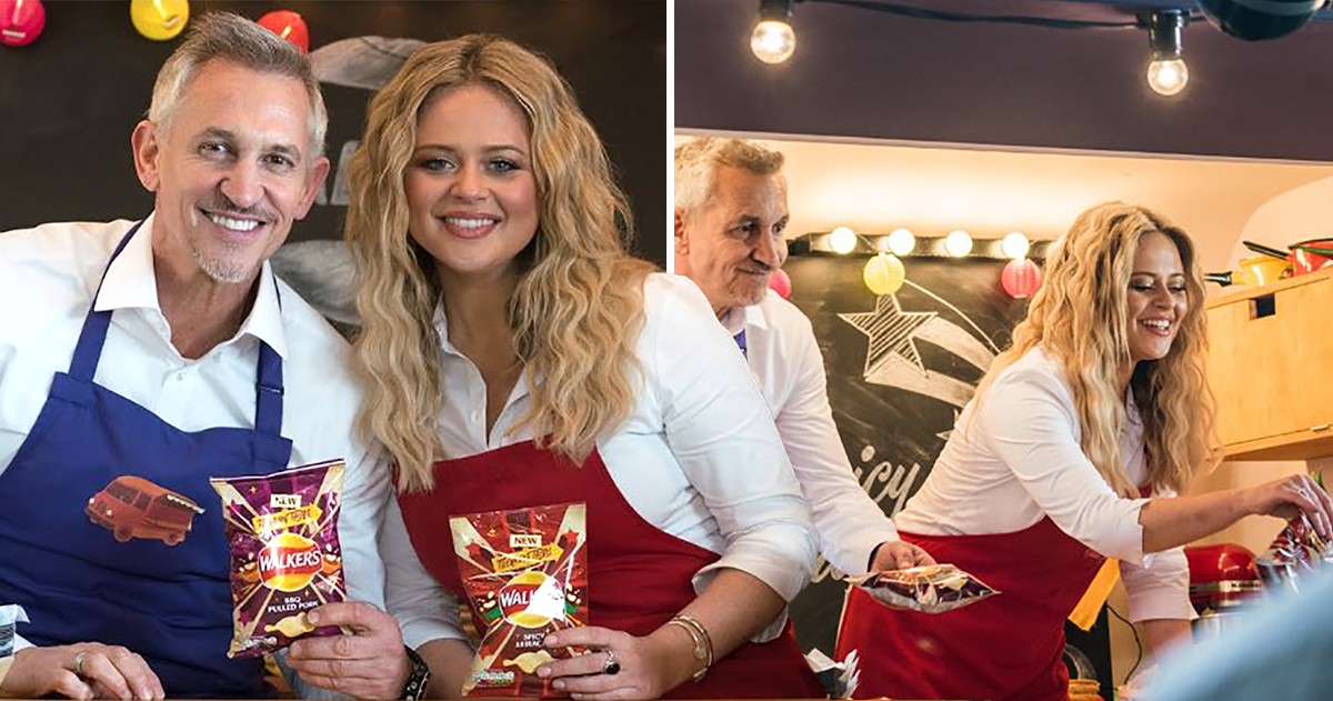 Emily Atack announced as the new face of Walkers Crisps alongside Gary Lineker