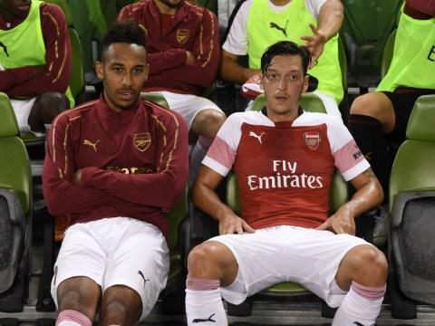 Mesut Ozil and Pierre-Emerick Aubameyang benched for Arsenal's clash vs Southampton