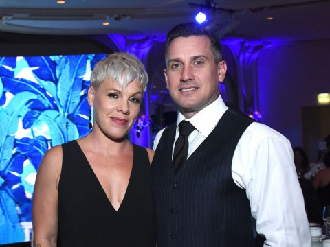 Pink slashed husband Carey Hart's car tyres so hard at 'stressful' Thanksgiving she needed 13 stitches