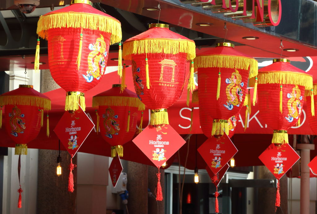 Chinese New Year lanterns in Chinatown, London