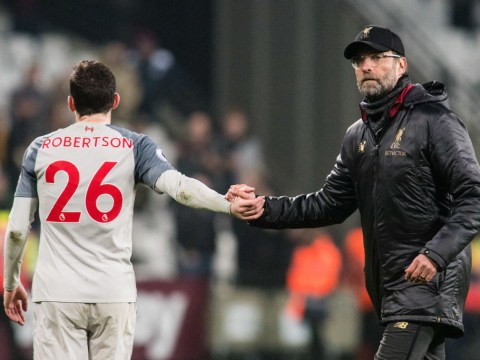 Andy Robertson reveals how Jurgen Klopp reacted to Liverpool's draw against West Ham
