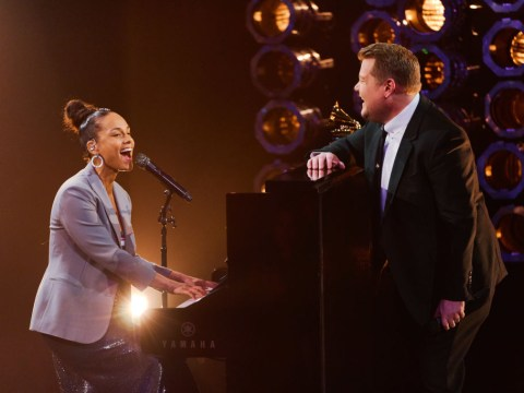 James Corden and Alicia Keys give Shallow a Grammys re-make and it's pure genius