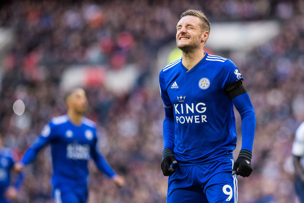 Leicester City striker Jamie Vardy missed a penalty against Spurs immediately after coming on