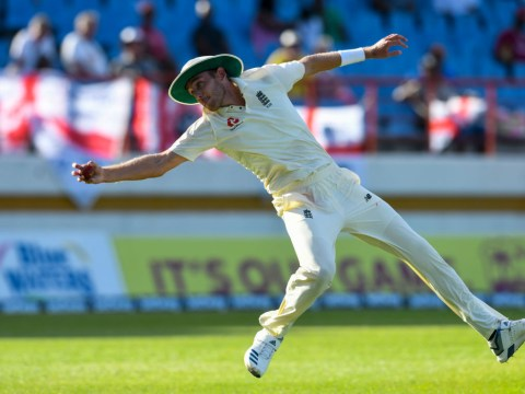 England bowler Stuart Broad takes superb one-handed catch as West Indies collapse