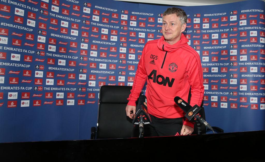 Caretaker Manager Ole Gunnar Solskjaer of Manchester United