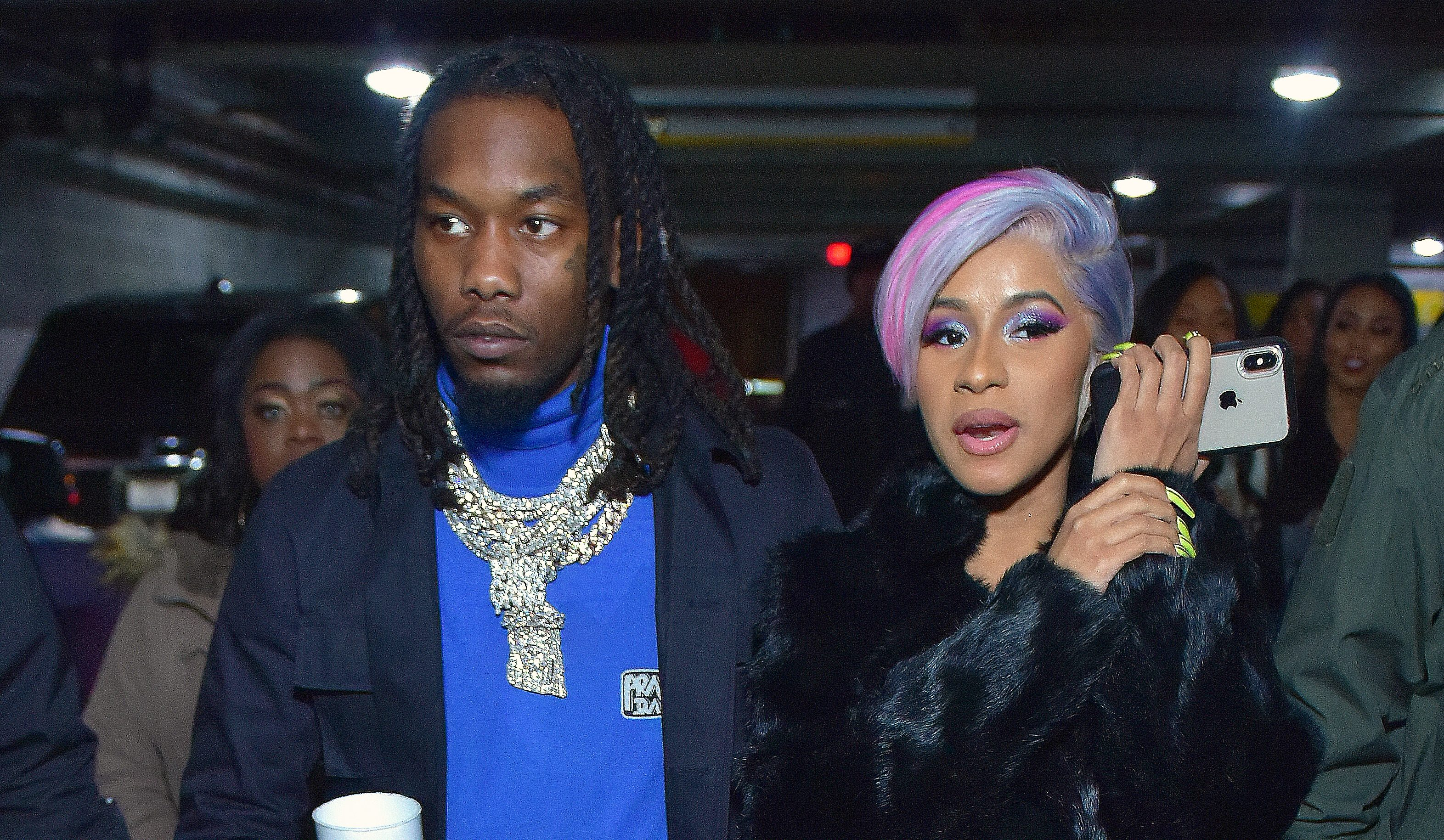 Cardi B and Offset push marriage woes aside as they party together ahead of Super Bowl