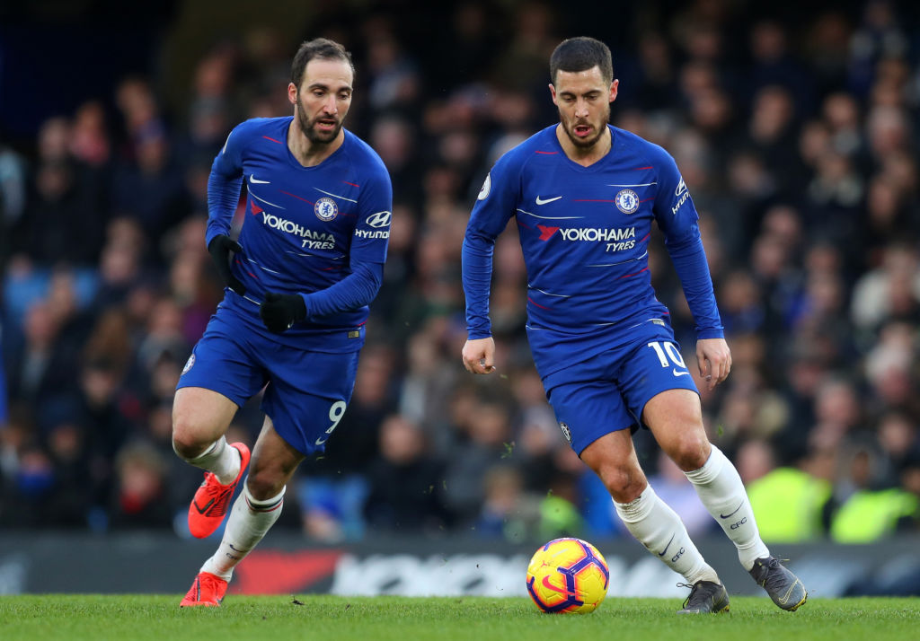 Maurizio Sarri reveals plans for Chelsea strike partnership with Eden Hazard and Gonzalo Higuain
