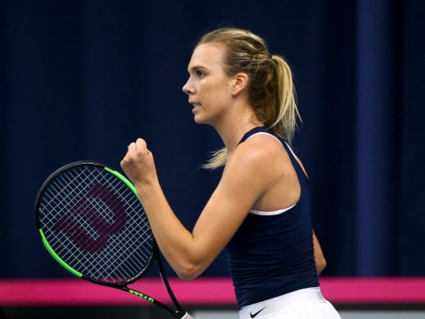 Katie Boulter enjoys dream Fed Cup singles debut in front of raucous Bath crowd